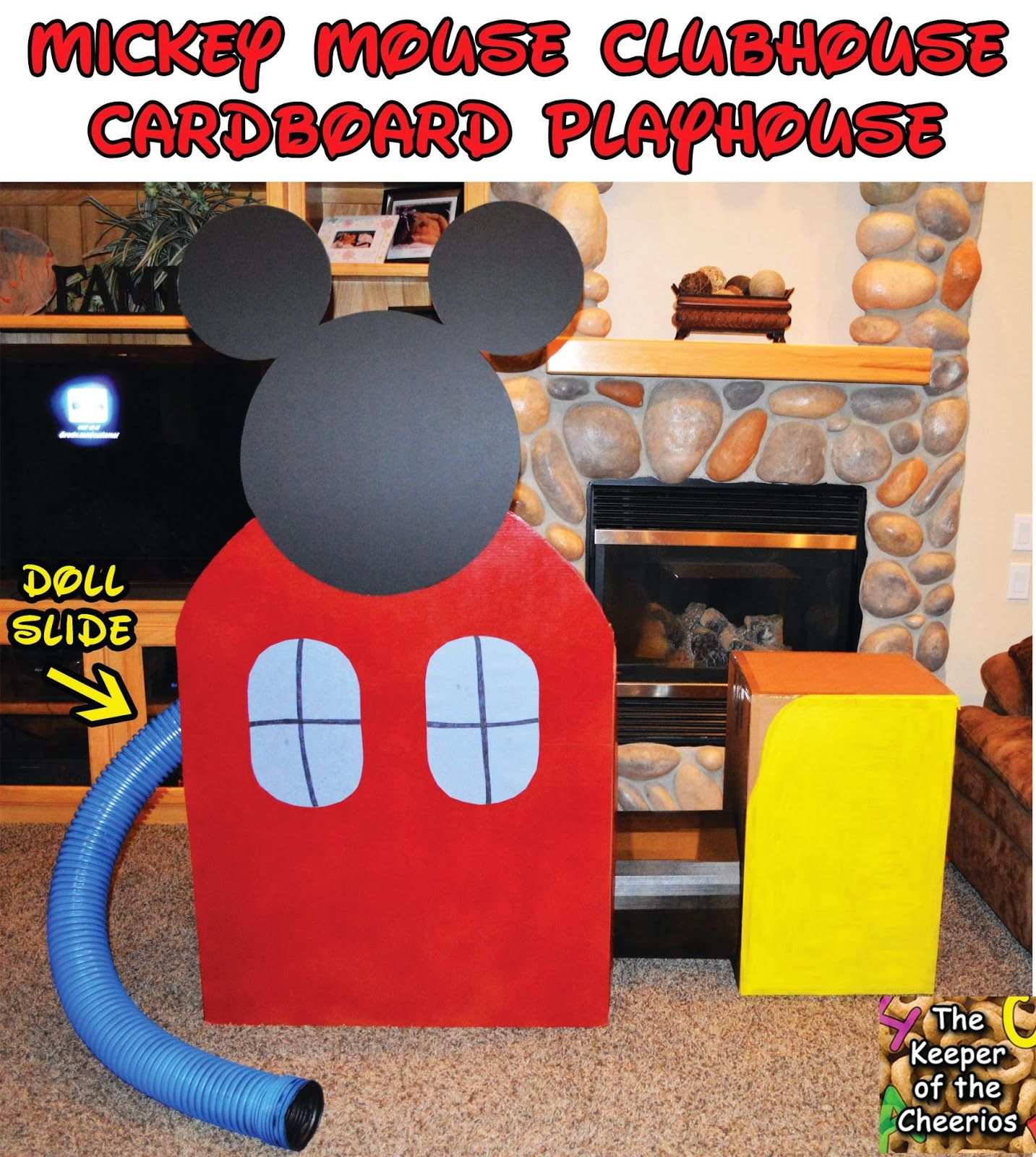 Do It Yourself Home Design: Mickey Mouse Clubhouse Cardboard Playhouse- Life Size