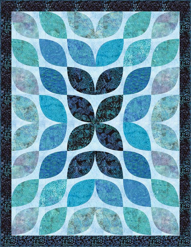 Beneath The Waves - Free Quilt Top PDF Pattern