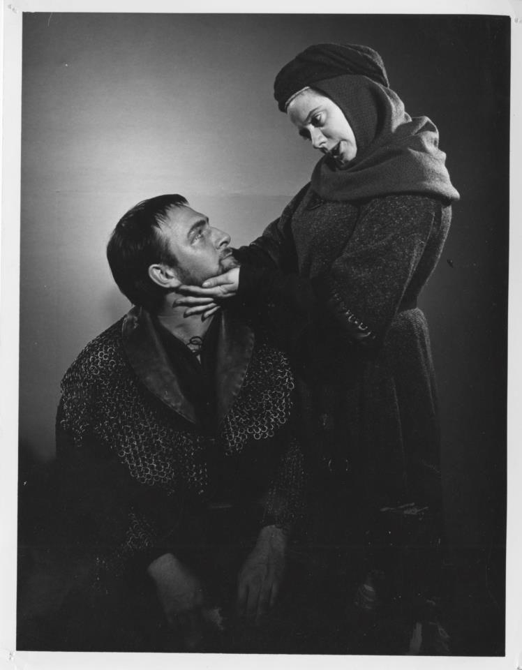 Lady Macbeth- Kate Reid along with Christopher Plummer as Macbeth.   Title role, Macbeth, Stratford Shakespeare Festival, 1962
