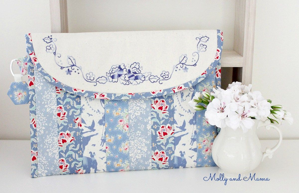 April's Tilda Club Project - Summer Rose Pouch