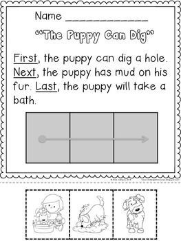 Sequencing Cut And Paste Reading Kindergarten Reading