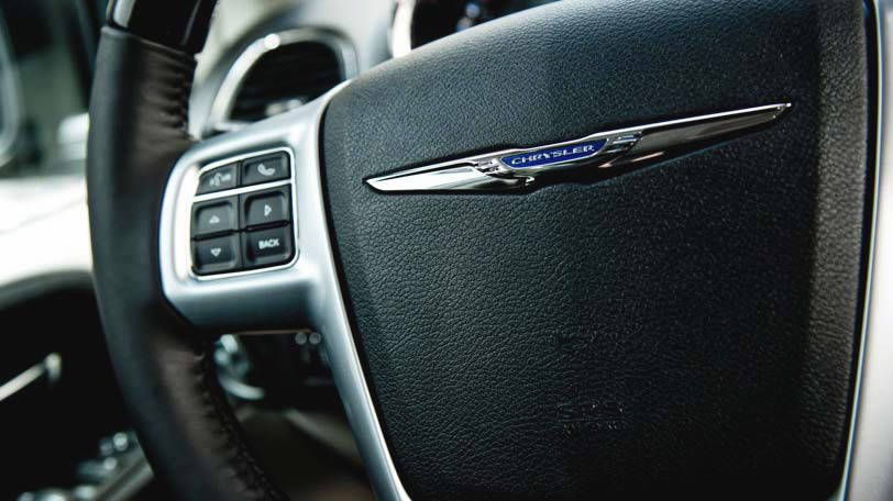 The Chrysler Town & Country comes standard with steering wheel-mounted audio controls.