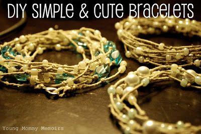Young Mommy Memoirs: DIY Super Simple & Cute Bracelet