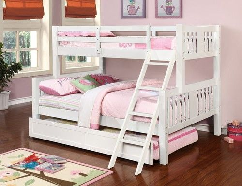 Generation Trade Ashmore White Twin On Full Bunk Bed With