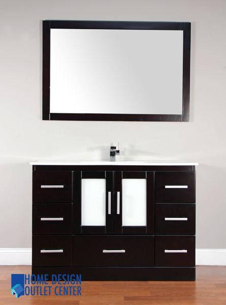 Aw 135 48 48 Single Modern Bathroom Vanity Set Espresso Home Design Outlet Center Modern Bathroom Vanity House Furniture Design House Design
