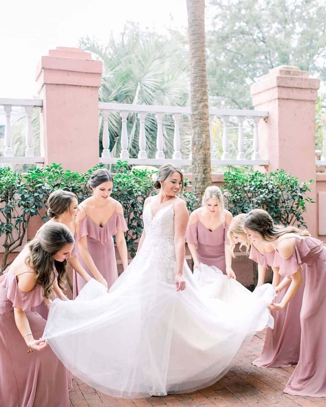 1 674 Likes 11 Comments Bella Bridesmaids Bellabridesmaids On Instagram On Wednesday S We Wear Pink Bellajax Bella Bridesmaid Bride Bridesmaid