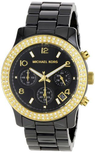 d10c60356 Buy Michael Kors Women's MK5270 Black Ceramic Runway Gold Glitz Watch and  other Wrist Watches at Amazon.com. Our wide selection is eligible for free  ...