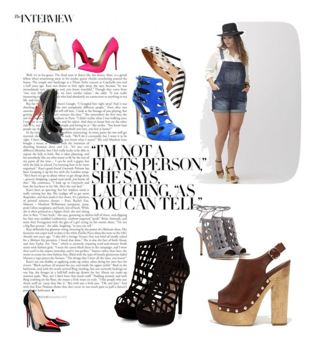 """""""Untitled #526"""" by habibati on Polyvore featuring Jimmy Choo, Christian Louboutin, Lane Bryant, Steve Madden, Gianvito Rossi and Diane Von Furstenberg"""