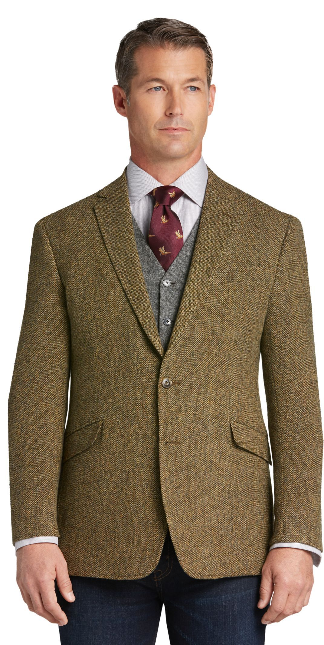1905 Collection Tailored Fit Tweed Sportcoat CLEARANCE - All Clearance    Jos A Bank cc7cc1fa9f