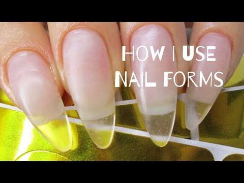 How To Do Uv Gel Nails At Home Exclusive Tutorial Youtube Nail Forms Gel Nail Tutorial Gel Nails Diy