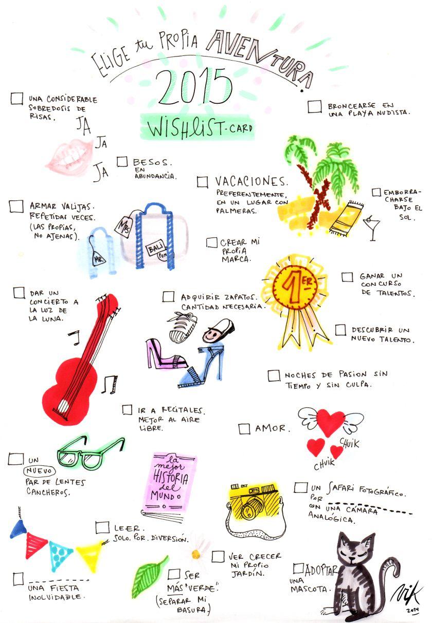C mo y por qu hacer una lista de deseos para 2015 happimess arte arte pinterest - Que hacer para no aburrirse en casa ...