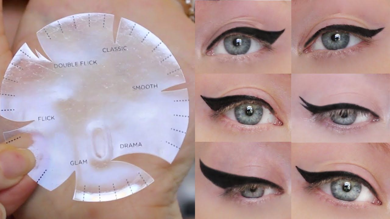 Winged eyeliner tutorial 6 different styles one stencil a winged eyeliner tutorial using a new winged eyeliner stencil from kiss that gives you six different winged eyeliner looks ill show you what each cat baditri Image collections