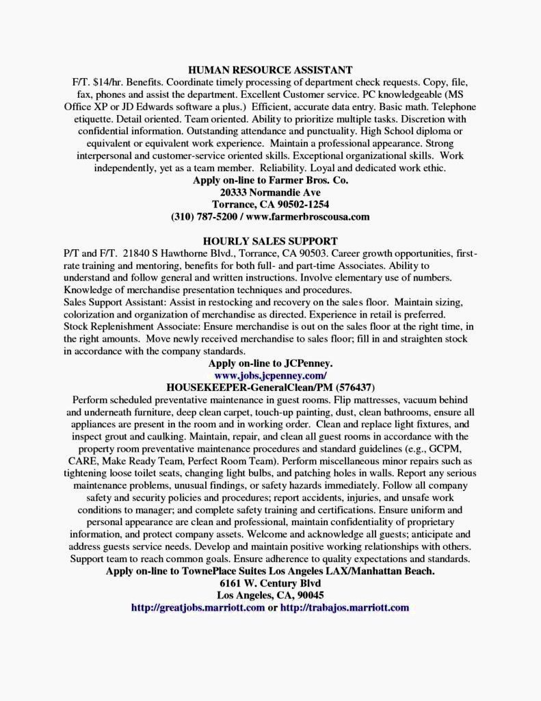 Entry Level Hr Resume Awesome Entry Level Hr Resumes