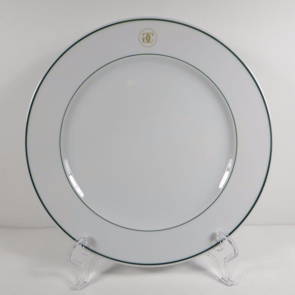 Williams Sonoma Grand Cuisine 1 Salad Plate Green Rim Gold Logo ...