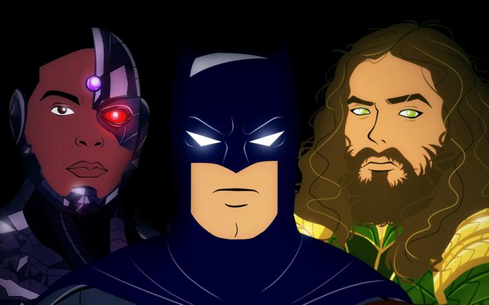 Download Wallpapers Batman Aquaman Black Panther Superheroes Art Besthqwallpapers Com Aquaman Fondos De Pantalla Batman Pantera Negra