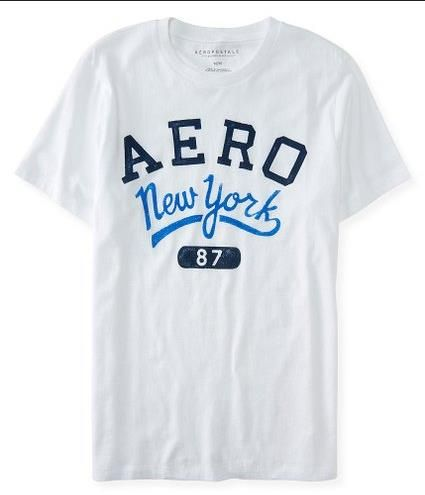 Aeropostale Mens Aero New York Logo Graphic t Shirt 7891 White - https    a56cb5f32a9