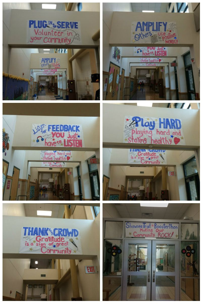 Banners made by PTA Board members for Rock'N Town Live