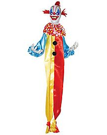 LIFE SIZE 5 FT HANGING LIGHTED CLOWN HALLOWEEN PROP HAUNTED HOUSE SPIRIT CIRCUS