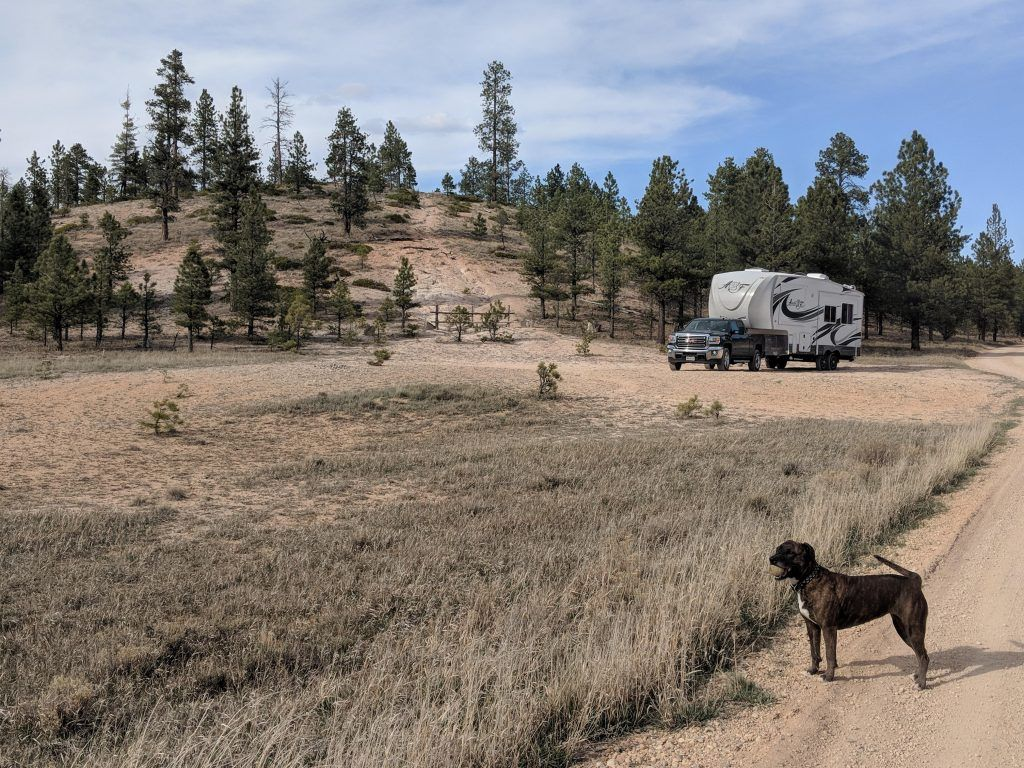 """Free camping near Bryce Canyon """"Rolled in on a Saturday ..."""