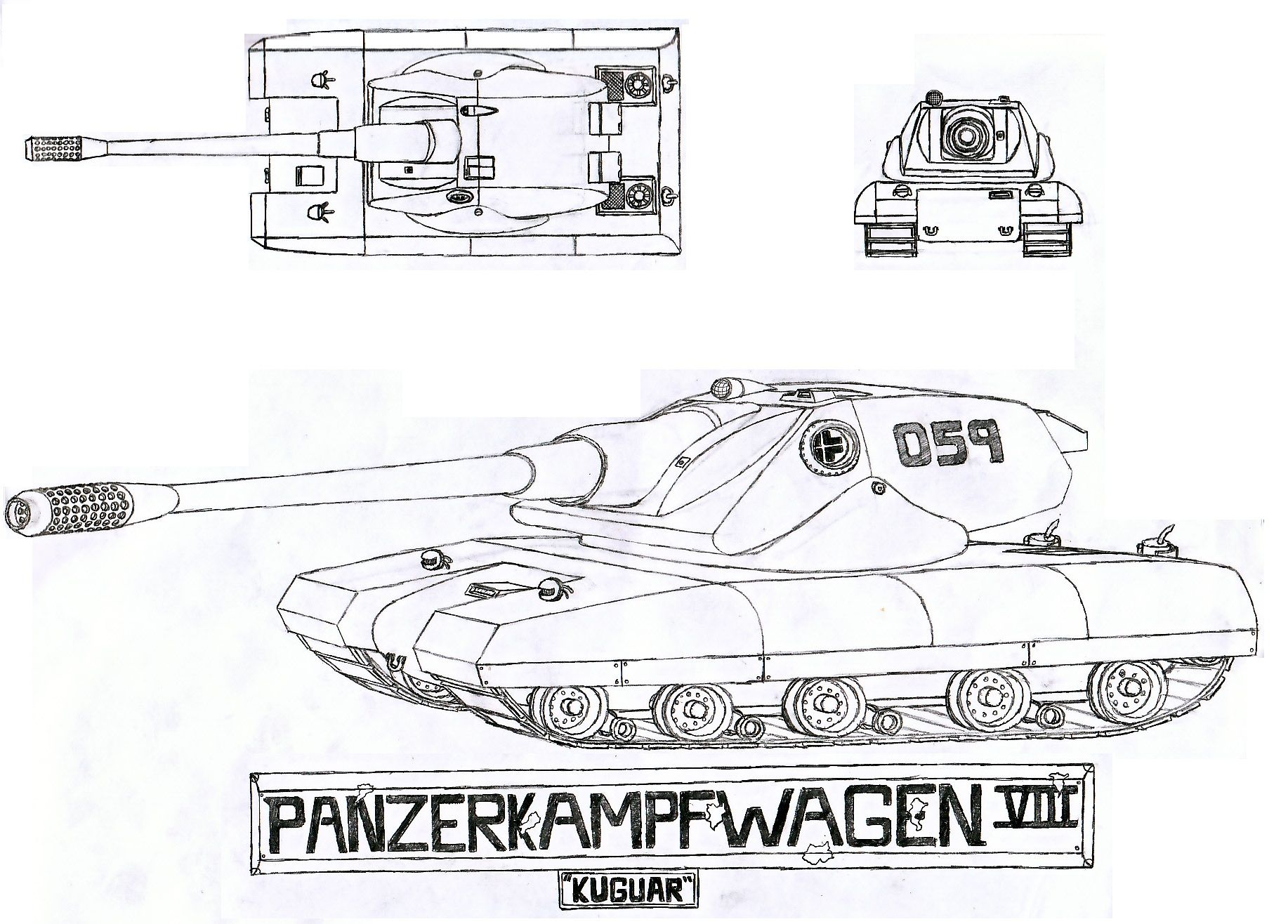 This Here Is The Panzerkampfwagen Viii Kuguar My Newest