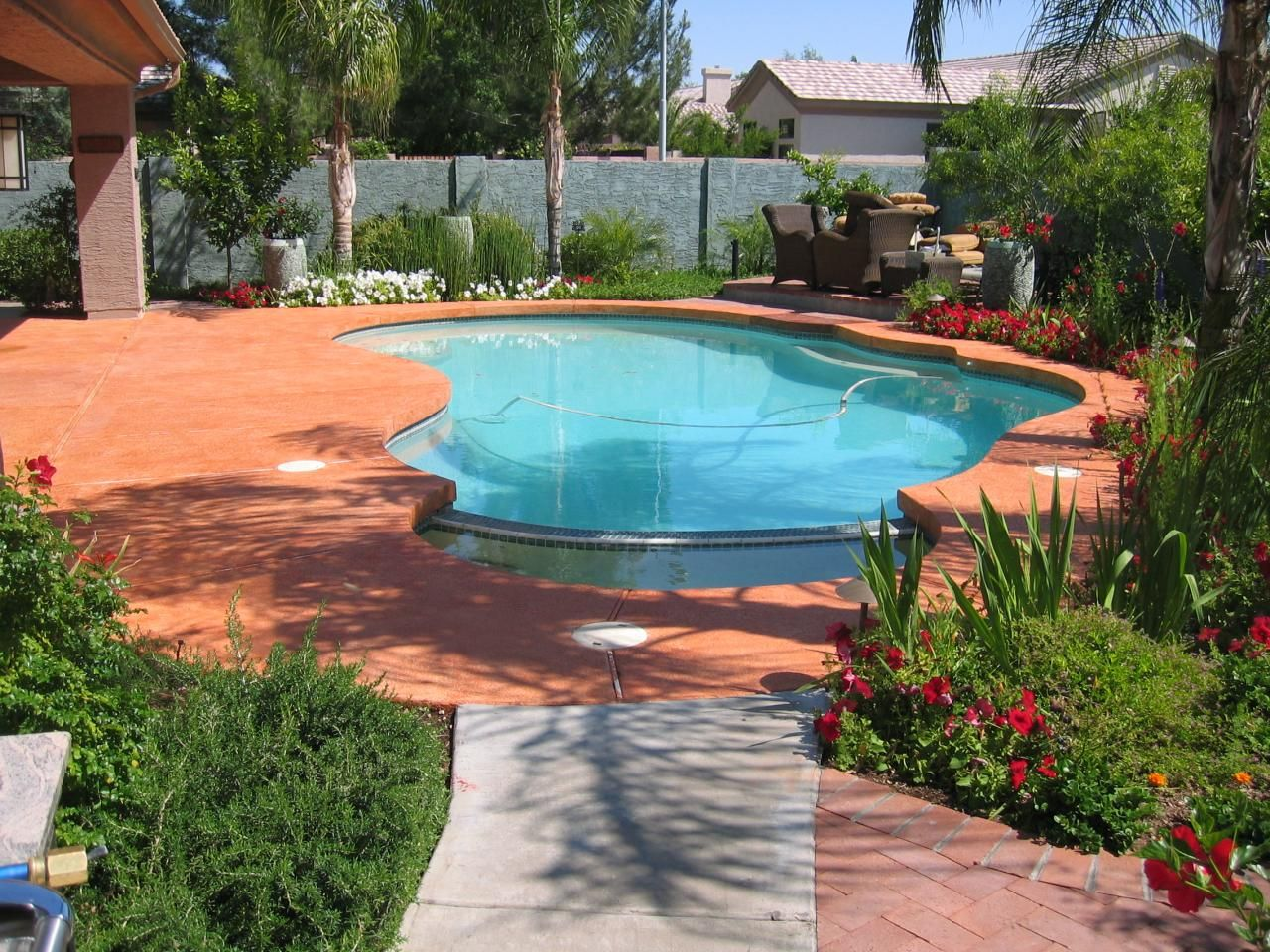 Painted Concrete Around Pool