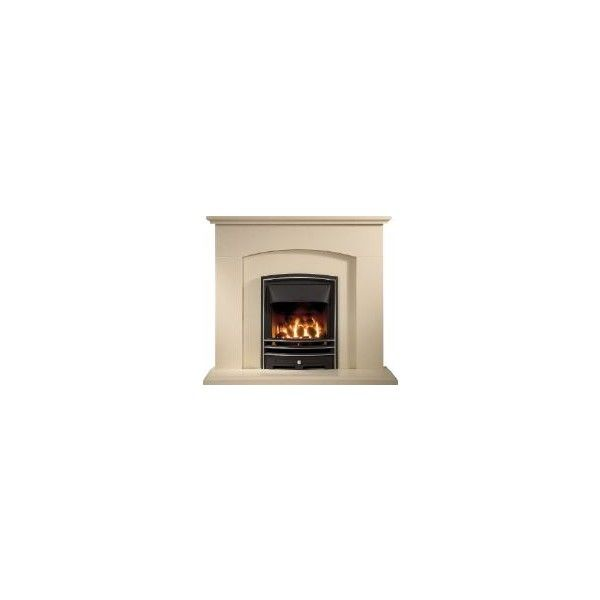 Gallery Fireplaces, Cartmel Micrograin Mocha Beige Marble Fireplace. -... ❤ liked on Polyvore featuring home, home decor, fireplace accessories, furniture, fireplaces, backgrounds, interior design, home wall decor, gas jeans and marble home decor