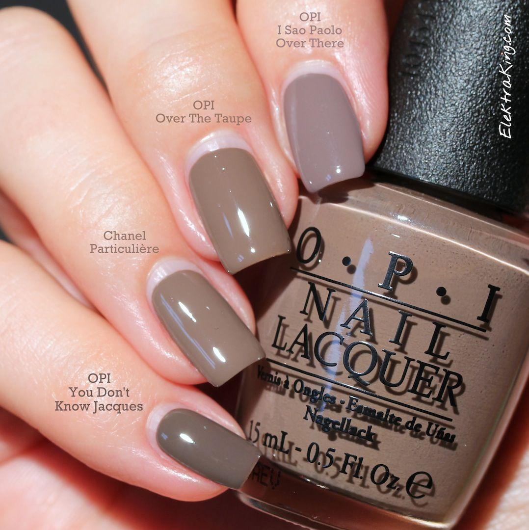 taupe nail polish comparison opi pinterest nails