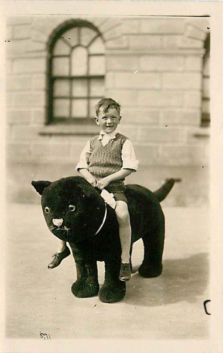 boy on a cat chair