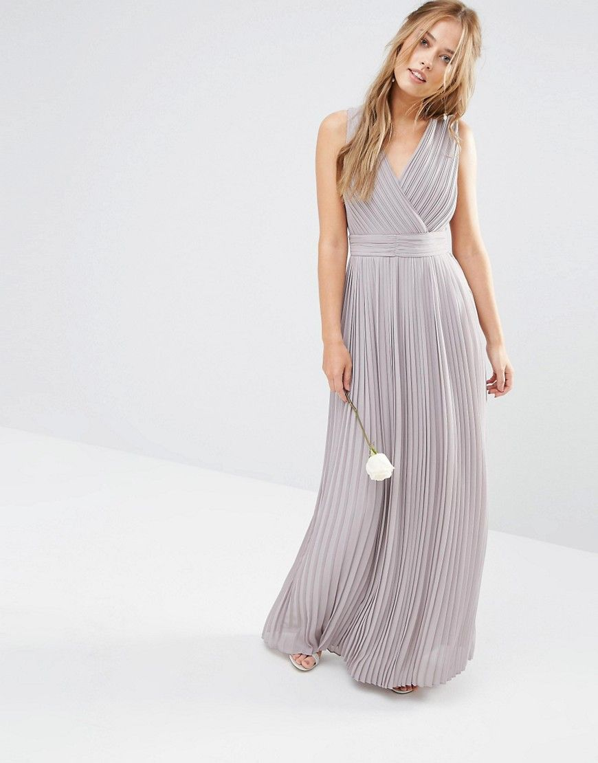 TFNC WEDDING Pleated Wrap Maxi Dress Tfnc Wedding and Weddings