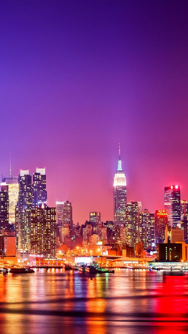 New York City Skyline Wallpaper For Iphone 5 5s And 5c Liberty