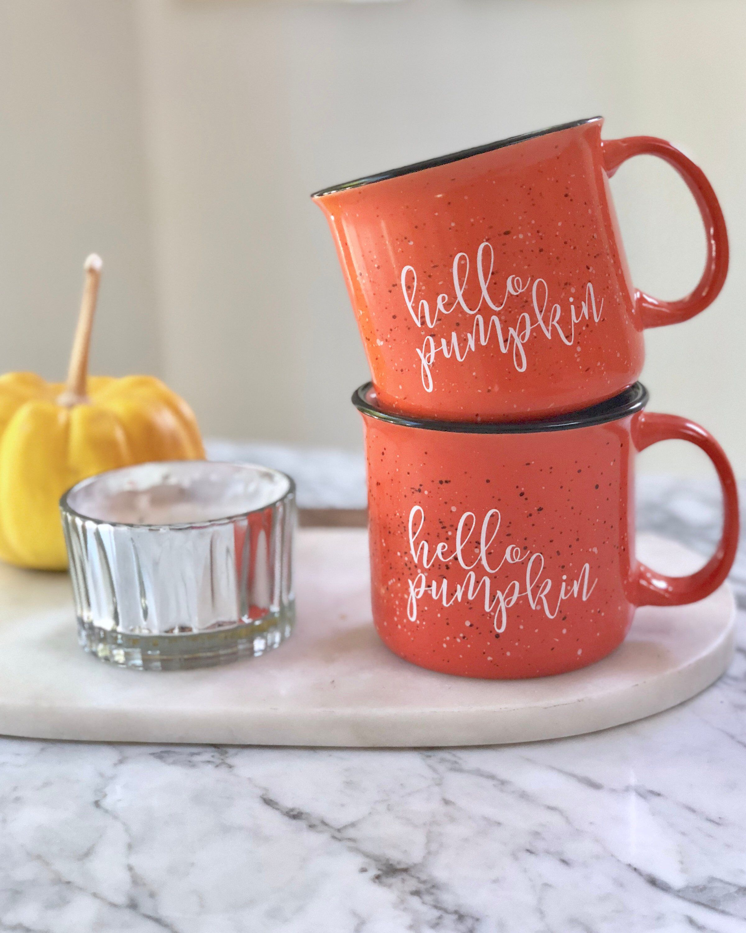 Hello Pumpkin Campfire Mug, Fall Mug, PreFALL SALE! 15 oz