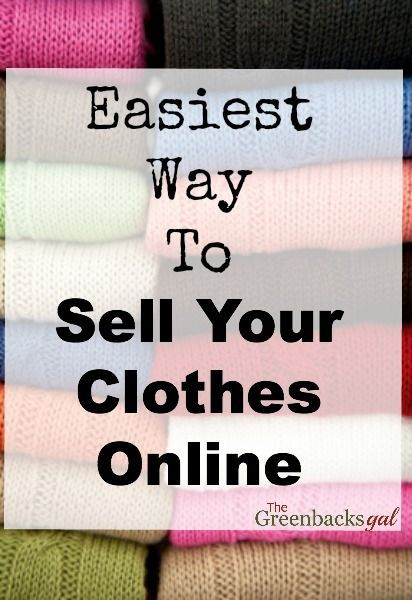 How to sell clothes online for cash