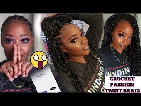 33 MINUTE CROCHET PASSION TWISTS!! FINALLY, NO MORE HR LONG TWISTING!! | JANET COLLECTION - YouTube #passiontwistshairstylelong