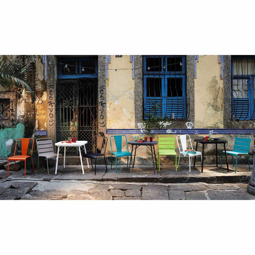 CanardDéco Balcon Chaise Bleu Métal En Jardin De 34LjA5R