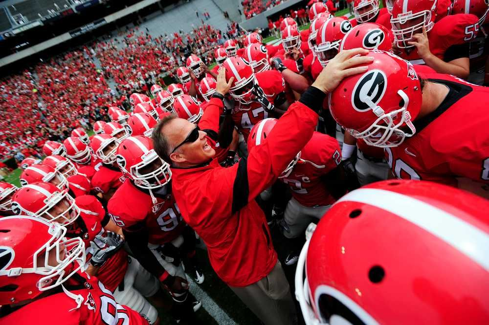 Coach Richt with his team (With images) bulldogs