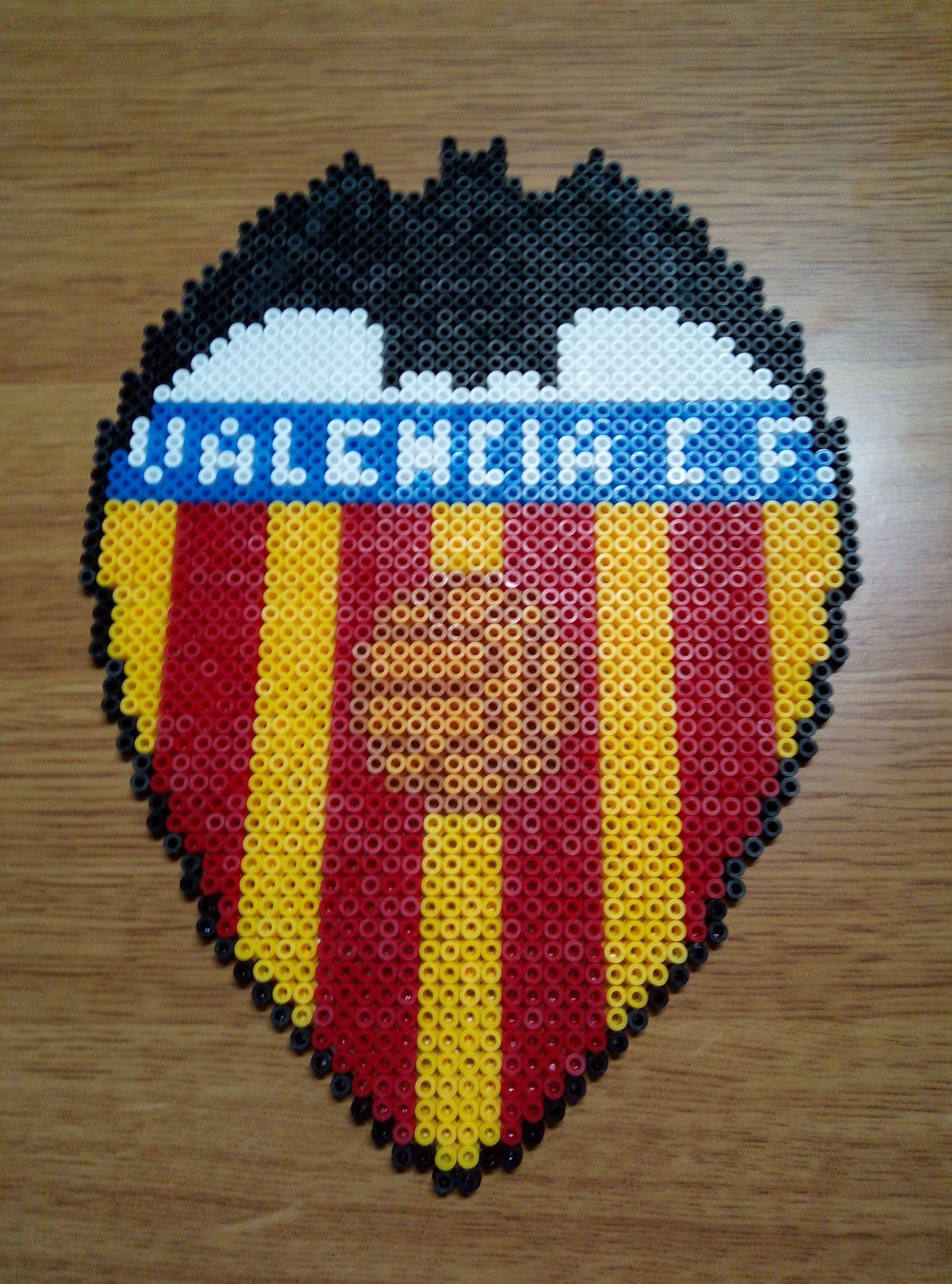 Valencia Club De Fútbol Hama Beads Abalorios Hama Hama Beads Plantillas Hama Beads