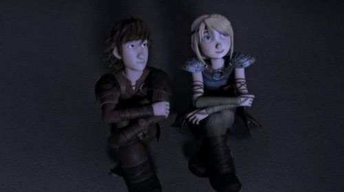 Image via We Heart It #astrid #hiccup #howtotrainyourdragon #httyd #hiccstrid #racetotheedge