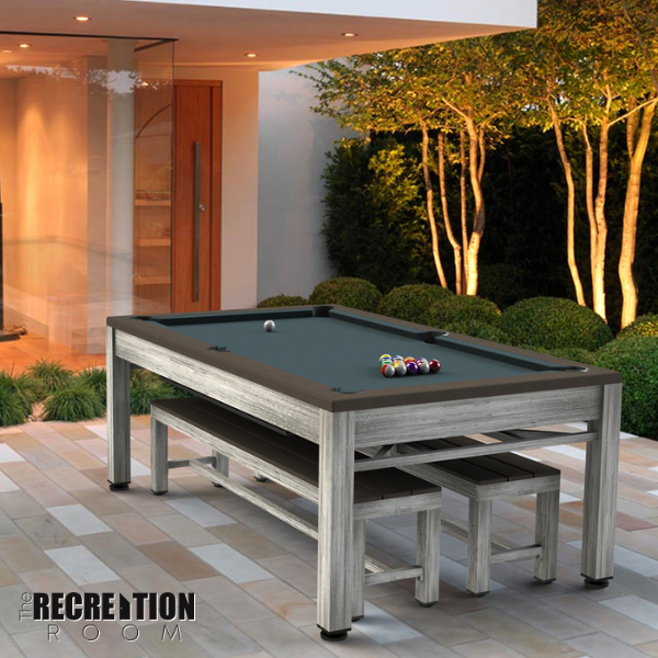 Riley Neptune Outdoor Slate American Pool Dining Table 7ft
