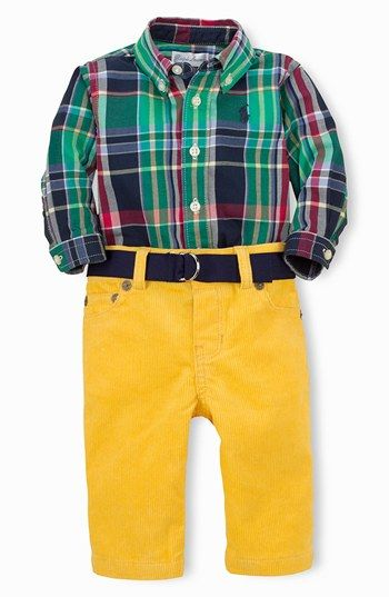 Ralph Lauren Shirt, Pants  Belt (Baby Boys) available at #Nordstrom