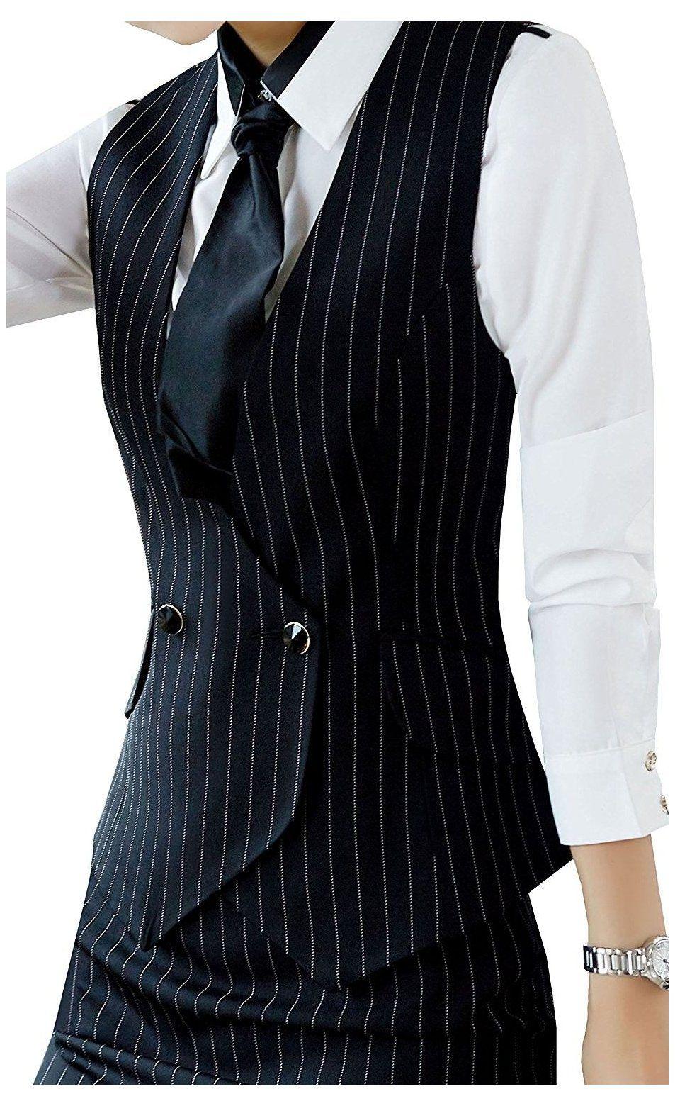 suit #vest Women's Clothing, Coats, Jackets & Vests, Vests,Women V-Neck  Lined Slim Fit Waistcoat Dreesy Suit Vest - Sty… in 2020   Clothes, Vest  fashion, Clothes for women