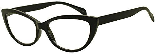 Womens Round Rx Optical Cat Eye Magnification Reading Readers Eye Glasses Black 1 x ** For more information, visit image link.Note:It is affiliate link to Amazon.