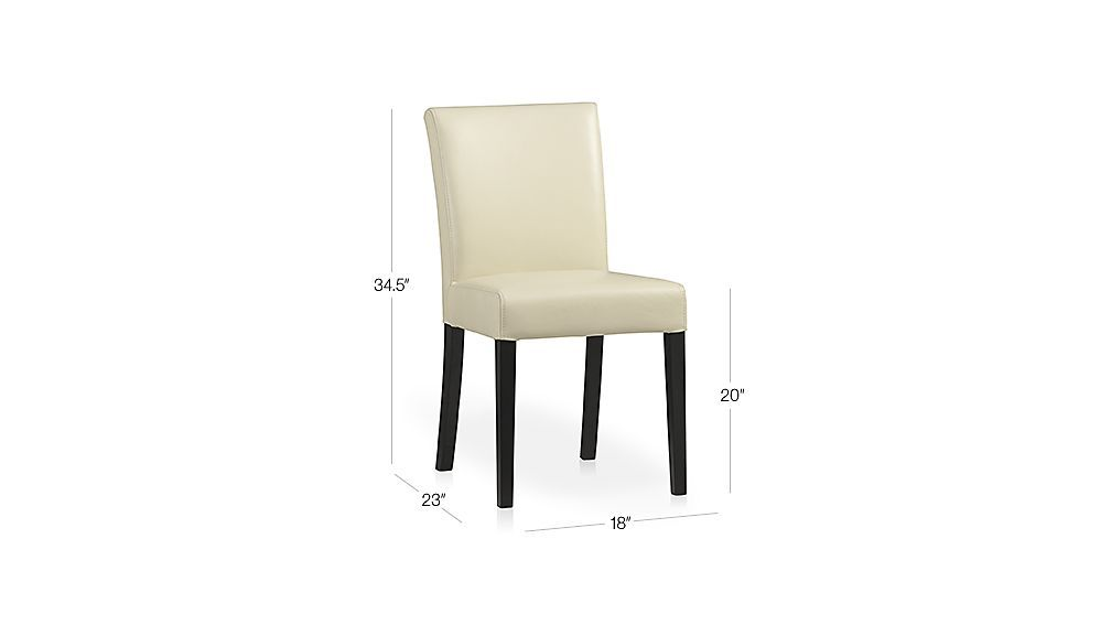 Ivory Leather Dining Room Chairs Simple Lowe Ivory Leather Dining Chair  Dining Chairs Crates And Barrels Review
