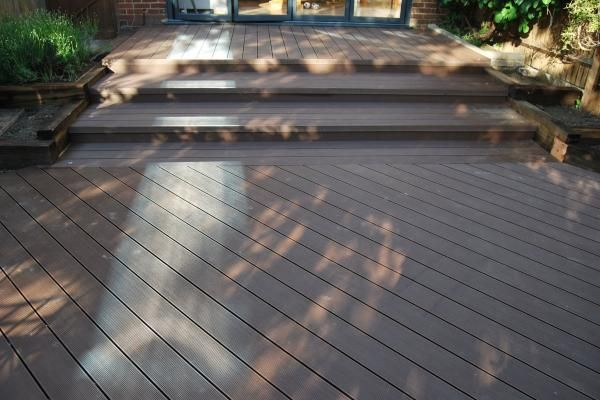 Wet Resistance Wood Patio Decking , Build Outdoor Composite Plastic Wood  Price