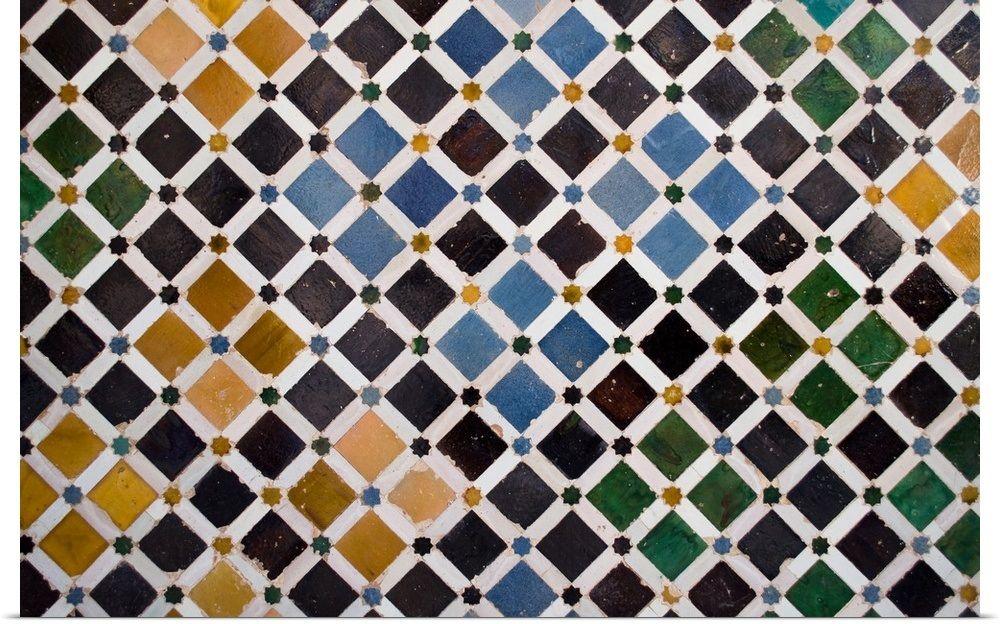 Colorful Arabic Tiles The Alhambra Granada Arabic Design Framed Prints Art