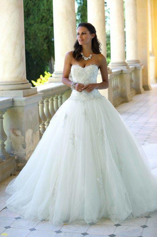 Hochzeitskleid / Brautkleid mit Corsage und Schleppe, ivory, verziert Gr #corsages