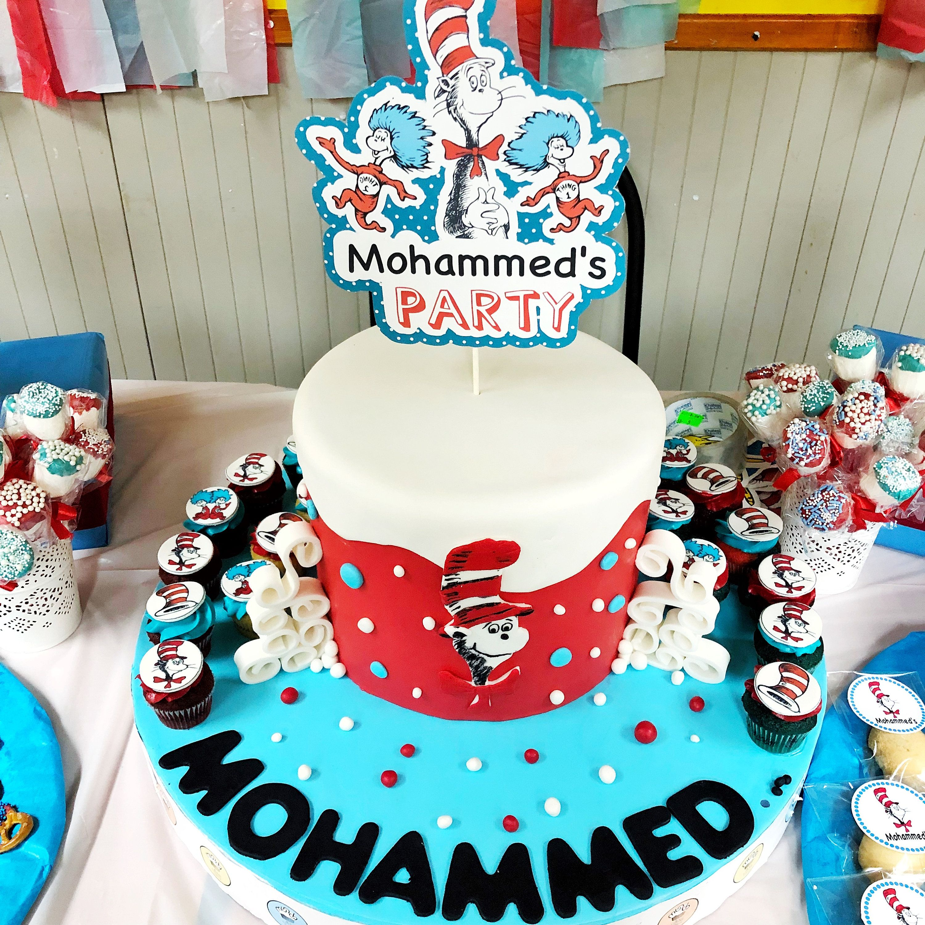 Cat In The Hat Cake Topper Dr Seuss Party Decorations Dr Seuss Party Birthday Cake Decorating Supplies Seuss Cakes Cake Decorating