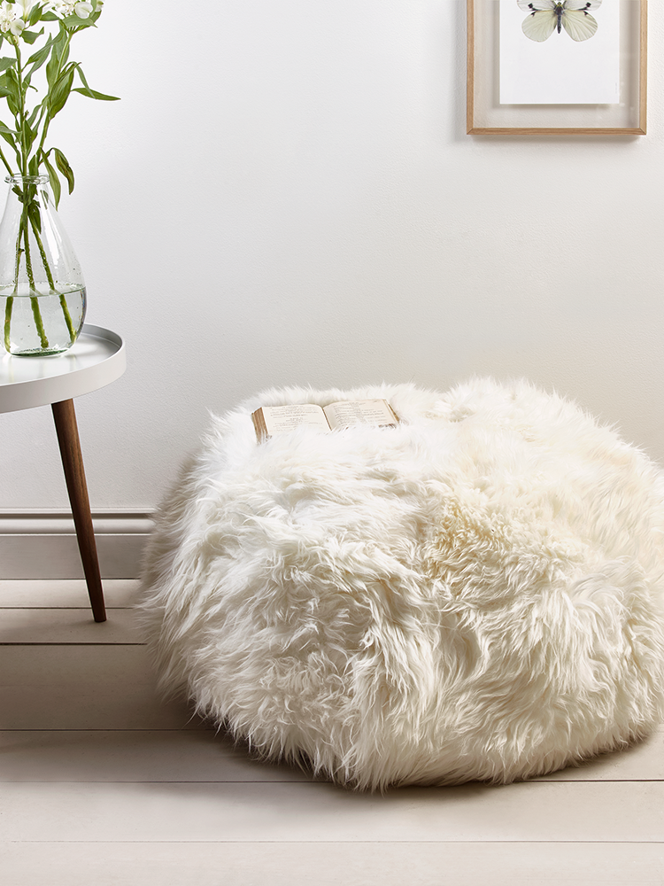 sumptuous sheepskin pouffe ivory in 2019 affiliate pins rh pinterest de