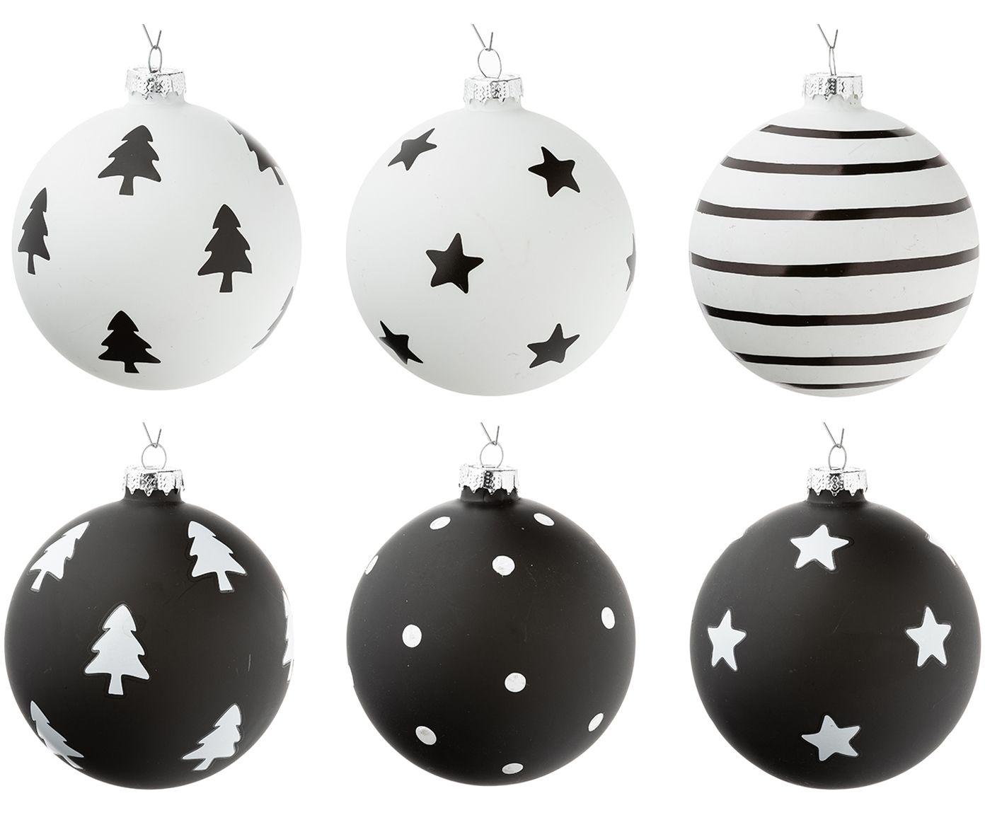 Schwarz Weiße Christbaumkugeln.Affiliatelink Weihnachtskugeln Set Bullerbü 6 Tlg Skandinavisch