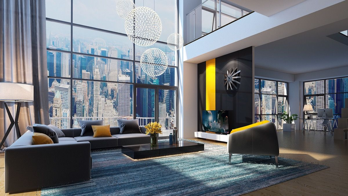 30 Double Height Living Rooms That Add An Air Of Luxury Li