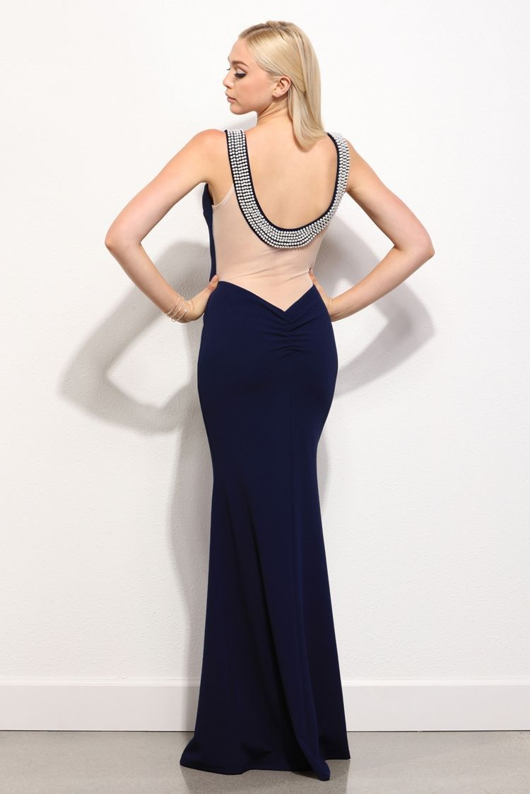 Final sale pearl navy embellished beauty dress pearls navy and